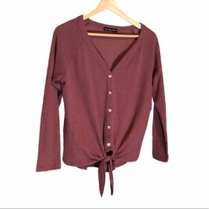 Kim & Cami Tie Thermal Top Size Small
